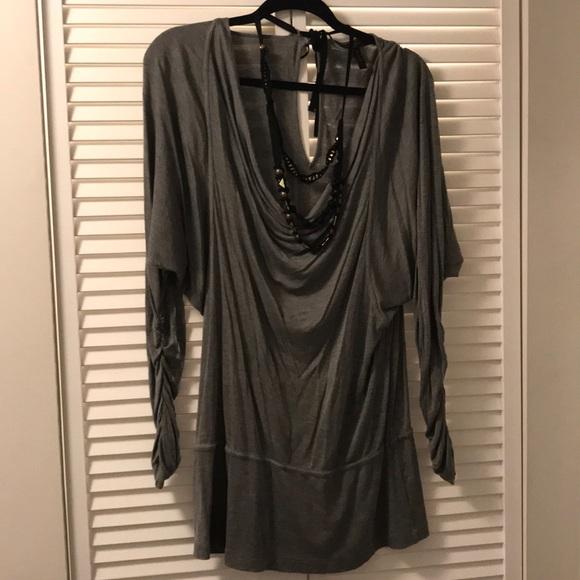 BCBGMaxAzria Tops - 🌺Bcbgmaxazria long sleeve top with necklace🌺
